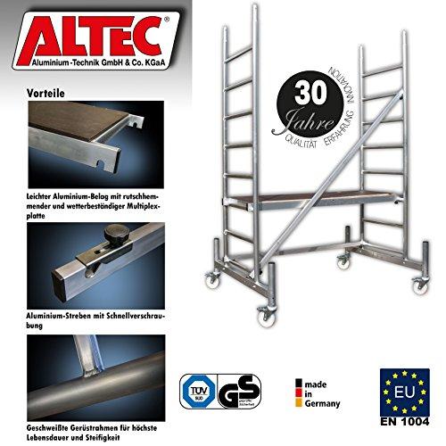 Arbeitsh/öhe 3 m neu ALTEC Rollfix 2.0 300 /Ø 150 mm mit Stahlspindel inkl Rollen Made in Germany