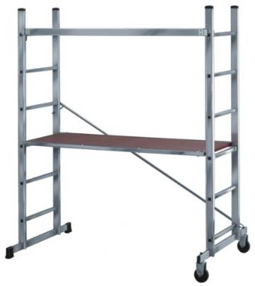Brennenstuhl 1461600 Aluminium Gerüst mit Sicherheitsgeländer -