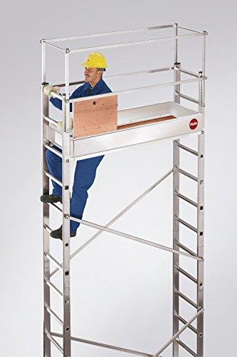 Hailo 9475-051 Grund- und Aufbaugerüst 5m inkl. Wandhalterung -