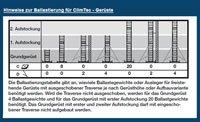 Krause ClimTec Alu Fahrgerüst AH 6.0 m / m. Ø 125 mm Fahrrollen -