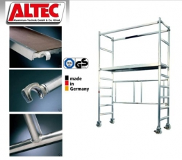 Profigerüst: ALTEC AluKlik 400, Arbeitshöhe 4m, neu, TÜV-geprüft -
